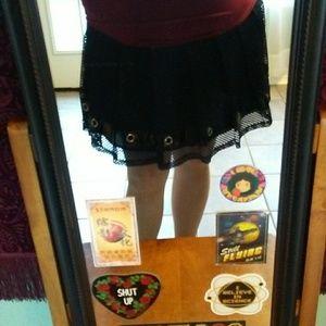 Black Bondage Mini Skirt